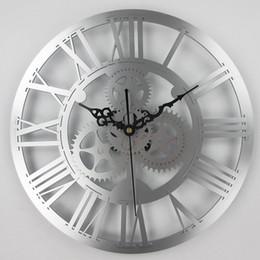 d9d969e25ed Engrenagem antiga europeia relógio de parede do vintage engrenagem mecânica relógio  Grande Parede Para A Arte Casa Sala de estar Decoração