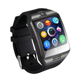 Best Wearable Gps NZ - Best selling Bluetooth Smart Watch Q18 With Camera Facebook Whatsapp Twitter Sync SMS Smartwatch Support SIM TF Card for xiaomi phone