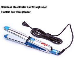 China 2 in 1 Hair Straighter And Curler Iron Stainless Steel Ceramic Hair Straightener Straightening Iron Flat Irons Hair Curler Styling Tool suppliers