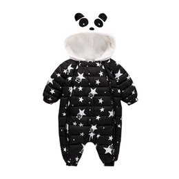 Discount onepiece jumpsuits - Winter Baby Rompers Overalls Clothes Jumpsuit 3-24Mouth Panda Newborn Girl Boy Duck Down Snowsuit Kids infant Snow Wear