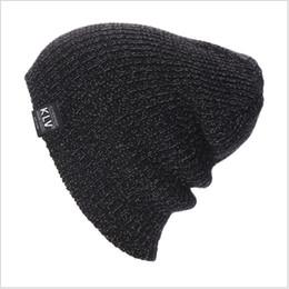 2018 KLV Wintermützen für Männer Frauen warme lässige Baumwolle Hut häkeln Slouchy stricken Baggy übergroßen Ski Beanie Mütze männlich Skullies
