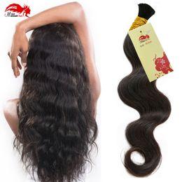 Wholesale Hannah Brazilian Virgin Human Braiding Hair Bulk Body Wave Virgin Hair Bulk For Braiding 3 Bundles 100% Unprocessed Virgin Human Hair Weave