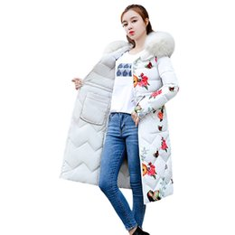 $enCountryForm.capitalKeyWord NZ - Women Parkas Winter 2018 Fashion Down Warm slim cotton Long Parkas Ladies Fur Hooded Jacket Overcoat With Zipper abrigos mujer