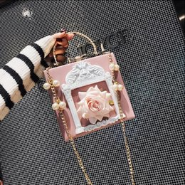 korean flowers white NZ - Women Japan and Korean Style soft Flap style Sequins Flowers chain Single PU Synthetic Leather handbag Black pink white blue color