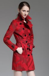 Double breasteD reD trench coat online shopping - New design women England british double breasted trench coat high quality brand designer plaid winter trench for women size S XXL B8260F310