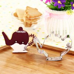 $enCountryForm.capitalKeyWord Australia - 10pcs teapot cookie cutter kettle Metal biscuit mold Fruit die cut Sushi stamp bread mould cake pastry tool bakeware