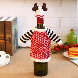 69c799085a Smiry New Arrive Christma Cute Cartoon Elf Red Wine Bottle Holders Cover  Bags Kids Gifts Bags Decoration Christmas Accessories