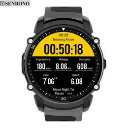 ip68 smart watch 2019 - SENBONO FS08 GPS Sport Smart Watch IP68 Waterproof Swim Fitness Tracker Stopwatch Heart Rate Monitor Smartwatch cheap ip