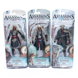 Discount pvc assassins creed toy Free Shipping Assassins Creed 4 Black Flag Connor Haytham Kenway Edward Kenway Pvc Action Figure Toys
