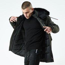Fur coat wadded online shopping - Winter Jacket Men Parka Hooded Coat Male Casual Coats Quilted Wadded Fashion Faux Fur Collar Thicken Coat With Removable Hat