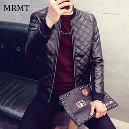 Wholesale mens leather bomber jackets resale online - 2019 Brand Leather Clothing Mens Jacket Coat Fall Winter Biker Bomber male Jacket thin men s Jackets Men PU Warm coats
