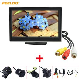 """$enCountryForm.capitalKeyWord Australia - FEELDO Car 5"""" LCD TFT Stand-alone Monitor With Rear View Camera RCA Video Rearview System 2.4G Wireless & Cigarette Lighter Optional #2683"""