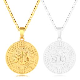 neck chains for girls NZ - Fashion Islamic Muslim pendant necklace neck chain for Gold Silver color women girl Middle Eastern Arab Religious jewelry gift Bijoux