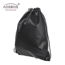 1e9a9d9897 Aosbos PU Leather Drawstring Bag for Shoes Men Women Sport Gym Bag Outdoor Drawstring  Backpack for Fitness Shoes Swimming Bags