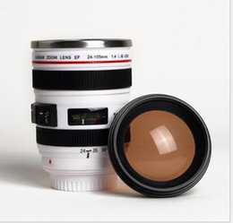 Camera drink online shopping - Stainless Steel Tank Coffee Mug ECO Friendly Camera Lens Mugs Household Drink Water Cups Creative Promotional Gifts