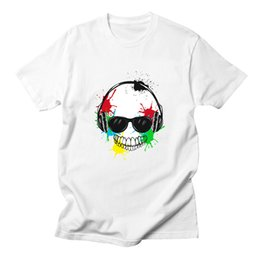 hip hop style clothing for men 2019 - Summer Style Fashion Men Hip Hop Short Sleeve Skull Print T-shirt For Casual White T Shirt Tee Tops Man Clothing discoun
