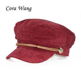 Duckbill hats men online shopping - Solid Color Lace Corduroy Women Flat Cap Ladies Elegant Baker Girl Hat Duckbill Autumn Classic Female Cap