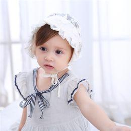 Newborn Flower Hats Australia - Baby Infant Newborn Girls Kids Lace Floral Hat Cap Baby Hollow Flower Court Hat With Baby Princess Hat Headgear