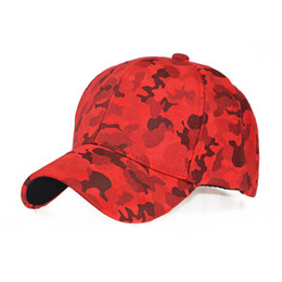 2c7a7f15bf6f 100% cotton Navy Grey Brown Camo Thick warm Snapback Cap Leather Men Suede  Baseball Cap Camouflage Red Army 2018