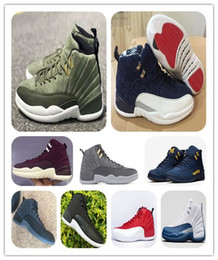 Wholesale pack man games resale online - 12s Graduation Pack CLASS OF Michigan men basketball shoes XII International Flight GYM red FLU GAME BORDEAUX Sports Shoes With Box