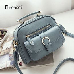 Discount tote bags for womens - MINOFIOUS Fashion New PU Leather Flap Small Handbag Women Solid Litchi Leather Tote Bags Simple Casual Shoulder Bag for