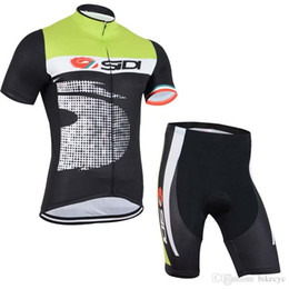 Discount maillot bib - SIDI team Cycling Short Sleeves jersey (bib) shorts sets bike maillot ropa ciclismo Bicycle MTB Quick Dry clothing men C