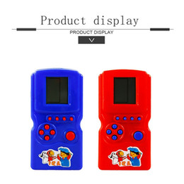 tetris console 2019 - 2017 New Funny Classic Tetris Game Console Handheld Educational Game For Kids Boys cheap tetris console