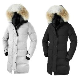 Warmest Goose Down Parka NZ - Free shipping Winter New Brand Women's Goose Down Chilliwack Bomber Hooded Warm Coat Fur Windbreaker parka