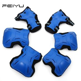 Skateboards Gear Australia - 6pcs set Kids Elbow Knee Pads Wrist Protector Skating Protective Gear Sets skate Racing Cycling Skateboard Protect for kids