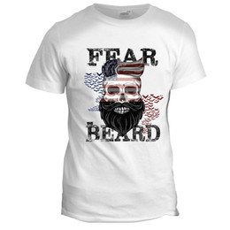 Wholesale vintage hot rod online – design Fear The Beard Mens USA Biker Hot Rod Muscle Motorcycle Racing Vintage T Shirt