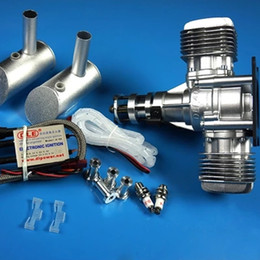 Engine Start Australia - DLE 40 RC model gasoline engine DLE40 twin-cylinder two-stroke side exhaust natural wind-cooled hand start 40CC displacement