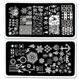 $enCountryForm.capitalKeyWord NZ - 1PC 6.5x12.5cm 2018 New Christmas Nail Art Template Snow Tree Reindeer Mix Design DIY Polish Image Nail Stamping Plates ZCS0158#