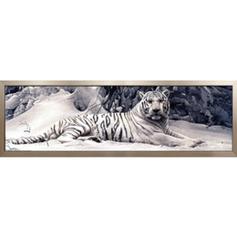 diy diamond painting square drill resin 2019 - 3D Diamond Mosaic DIY Diamond Painting Cross Stitch Pattern Resin Square Drill Diamond Embroidery White Tiger Full Paint