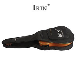 acoustic guitar gig bags 2019 - AUAU IRIN 40 Inch   41 Inch Guitar Carry Bag Case Backpack Oxford Folk Acoustic Guitar Gig Bag Cover with Double Shoulde