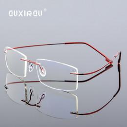 3e75cf37d84 Rimless fRame eyeglasses online shopping - Diamond Trimmed Eyeglasses Men  Rimless Glasses Frame Women Quality Optical