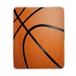 Discount warm cozy blankets - Close-up of Basketball Ball Blanket Soft Warm Cozy Bed Couch Lightweight Polyester Microfiber Blanket Throw