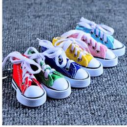 Metal Sneakers Australia - New Arrival Sport Shoes Keyring Mini 3d Sneaker Canvas Shoes Keychain Tennis Shoe Chucks For Men Jewelry