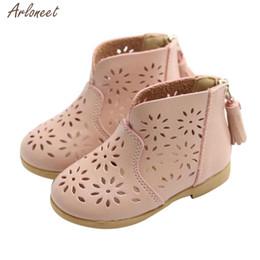 Baby Girl Summer Canvas Shoes Australia - 2018 toddler girls summer shoes PU Flower shoes baby girl Sandals Fashion Big Flower Girls Flat Pricness JAN8