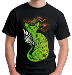 a95f45cd0 Newest 2018 Velocitee Mens Nobody Perfect T Shirt Evil Tattoo Cat Pussy  Rave Festival V82 Men's Shirts Men Clothes Novelty Cool