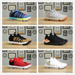 12bf448e440 2018 Cheap Sale Hot 10 Colors KD10 Zoom Kevin Durant X Basketball Shoes for  Good quality KD 10s Men Classic Sneakers Size 40-45