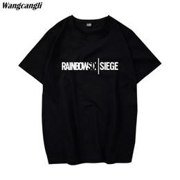 Wholesale rainbow t shirts online – design Rainbow Six Siege t shirt Tom Clancy Print Original Design Fashion Style Casual mens t shirts fashion Cotton T shirt men