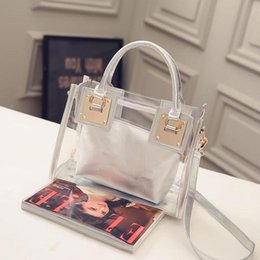 f6fdf8abab Transparent Clear Handbag Australia - New Fashion Women Clear Transparent  Shoulder Bag Jelly Candy Summer Beach