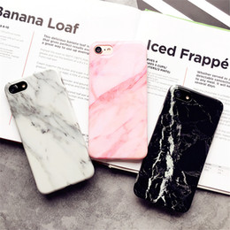 cell phone silicone case iphone NZ - Cover for Iphone 7 Marble Pattern Silicone Phone Cases for Iphone7 Plus 8 8 Plus 6 6s Fundas Protect Cell Phone Sets Shockproof free ship