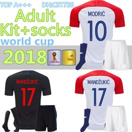 3995641adf0 2018 Designed for home adult kit+socks Soccer Jersey MODRIC PERISIC RAKITIC  MANDZUKIC SRNA KOVACIC KALINIC Hrvatska Football Shirt