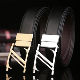 Z Buckle Leather Belt UK - New Luxury Cowskin Belts for Men Z Designer Business Male Waist Strap Belt Good Quality Genuine Leather Belt Girdle Famous Mens Bet Girdle