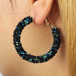 88dc7ff693 Cerchi disegno online-Elegante nuovo design di moda fascino austriaco  orecchini a cerchio di cristallo