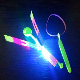 funny gifts christmas NZ - New Led Luminous Flying Light Up Toys Flashing Bamboo Dragonfly Electronic Cheap Kids Gift funny gadgets interesting toys