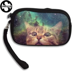 $enCountryForm.capitalKeyWord NZ - SAMCUSTOM Custom Cats look at you 3D Print New Women's small purse male and female Small wallet Fashion Casual Girl Coin Purse