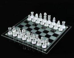 25 * 25 cm K9 Glas schach medium wrestling Verpackung International Schachspiel hohe qualität Internationalen Schachspiel verpackt gut kostenloser versand