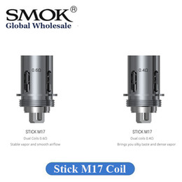 Stick replacement online shopping - Authentic SMOK Stick M17 Coil Head Replacement ohm ohm Dual Core for M17 AIO Kit Original